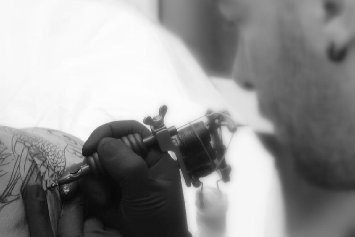 Ivo Rosfar, a tatuar